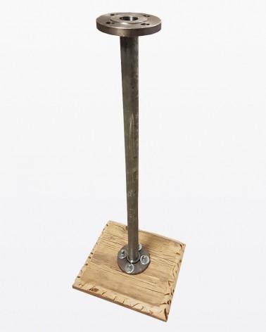 Basamento in acciaio e legno | Mobili grezzi