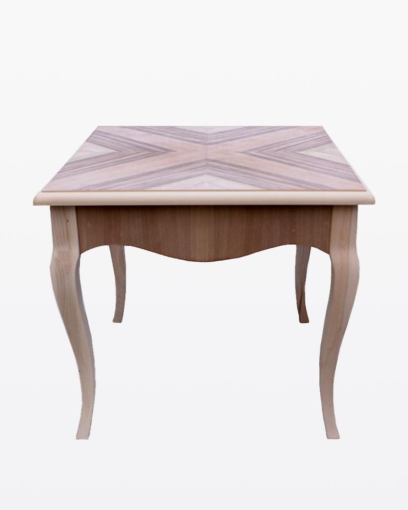 Tavolino noce intarsiato grezzo | Mobili grezzi