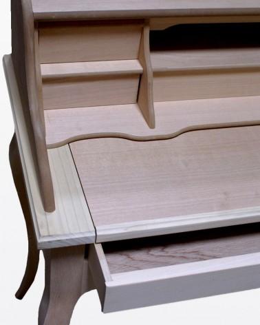 Scrittoio grezzo con 6 cassetti | Mobili grezzi