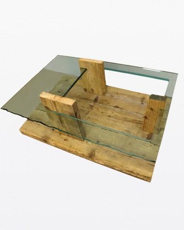Tavolino Glasswood | Legno vecchio