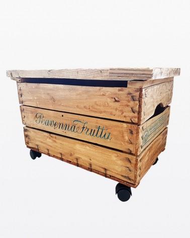 Carrellino bar a cassetta da frutta | Legno vecchio