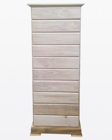 Cassettiera grezza con 10 cassetti | Mobili grezzi