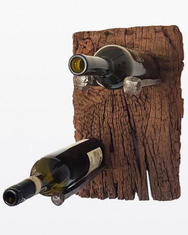 Portabottiglie da parete in legno di recupero | Legno vecchio