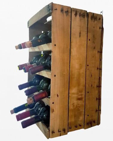 Portabottiglie a cassetta da frutta | Legno vecchio