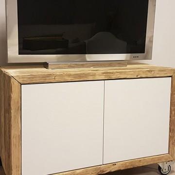 porta tv in legno di recupero